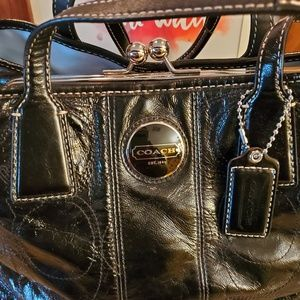 Coach Patent Leather Purse- Comes with Duster